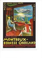 12168 - Montreux-Bernese Oberland MOB The Golden Pass Route  (Reproduction D´affiche, Format 10X15) - VD Vaud