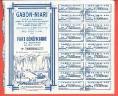 Titre Action GABON-NIARI - - Afrique