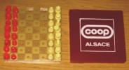 Pub Jeu De Poche Echec Coop Alsace 10 X 10 X 2.5 Cm - Reklame