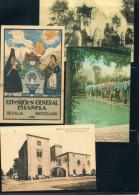 Postales De Sevilla Y Otras. Conjunto De 16 Postales Reproducción Comisaria 1992 - Postales