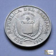 El Salvador - 25 Centavos - 1911 - Scarce - El Salvador