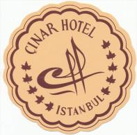 TURKEY ISTANBUL - CINAR HOTEL - Old HOTEL LUGGAGE LABEL ETIQUETTE ETICHETTA BAGAGE - Hotel Labels