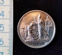 Petite Medaille De Mariage Debut 1900 Argent - France