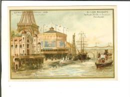 Au Coin Maugars -Orléans Ed-imp Vve Bourgerie - Exposition Universelle 1889 (notice Verso) Exposition Fluviale ... - Au Bon Marché