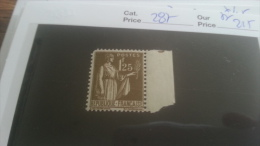 LOT 251188 TIMBRE DE FRANCE NEUF** N�287 VALEUR 215 EUROS