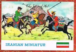 IRAN - TEHRAN INTERNATIONAL HOTEL - IRANIAN (persian) MINIATUR - CHEVAUX - POLO - HORSES - Iran
