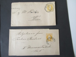 Österreich Ausgabe 1875 Ganzsache / Streifband S2 Gestempelt 2 Stück. Gut Erhalten! - Entiers Postaux