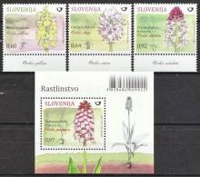 SLOVENIA SLOWENIEN 2015 FLORA FLOWERS ORCHIDS BLUMEN PFLANZEN ** SET & S/S ** MNH ** NEW