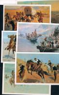 Conjunto De 11 Postales De Historia Del Oeste - Postales