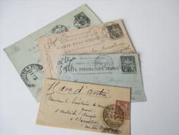 Frankreich Ganzsachen / Streifband / Rohrpost. Um 1900! Interessante Stücke - Lots Et Collections : Entiers Et PAP