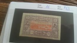 LOT 251257 TIMBRE DE COLONIE SOMALIS  NEUF* N�16 VALEUR 63  EUROS