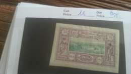 LOT 251260 TIMBRE DE COLONIE SOMALIS  NEUF* N�11 VALEUR 25 EUROS