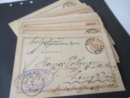 Österreich Ganzsachen Ausgabe 1890 Türbogenmuster 29 Stück! Verschiedene Stempel Usw!! Interessant! - Entiers Postaux