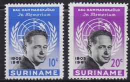 1249(11). Suriname, 1962, MNH (**) Michel 413-414 - Surinam