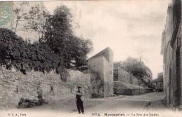 Cpa (75) Montmartre -- La Rue Des Saules (tres Belle Carte) - Frankrijk