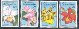 Dominica 1657, 1661-1664 Orchidee from series, , Neuf** sans charniere