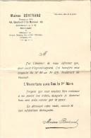 Commerce - Bruxelles 1900 -  Maison Bertrand - 49, Boulevard Du Hainaut - 1913 - Rideaux, Dentelles, Tentures, Linonéum - Belgium