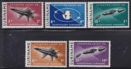 1250(1). Suriname, 1964, Cosmos, MNH (**) Michel 441-445 - Surinam