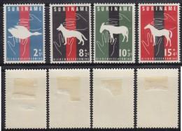 1250(2). Suriname, 1962, Protected Animal Species, MH (*) Michel 427-430 - Surinam
