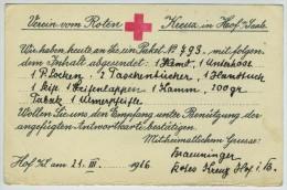 CP Croix-Rouge De Hof A. D. Saale Pour Prisonnier De Guerre Au Camp De Bressuire. - Guerre De 1914-18