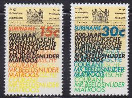 1250(3). Suriname, 1974, MNH (**) Michel 675-676 - Surinam