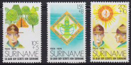 1250(4). Suriname, 1974, 50 Years Of Scouts, MNH (**) - Surinam