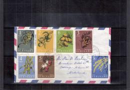 Lettre Suriname vers Nederland - Fruits - S�rie compl�te (� voir)