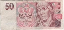 Banknote Geldschein CESKA REPUBLICA Tschechien 50 Korun Kronen 1997 D 64 553099 Cesky Narodni Banka - Tchéquie