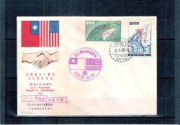 """Cover From Taiwan - With Stamps Overprint """"Welcome U.S.President Dwight D. Eisenhower 1960""""  (to See) - Lettres & Documents"""