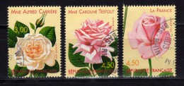 FRANCE 1999 Rose Yv 3248/3250 Mi 3389/3391 obl