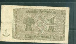 Billet 1 Rentenmarck   -  K.86317336   Laubil1813 - [ 3] 1918-1933 : República De Weimar