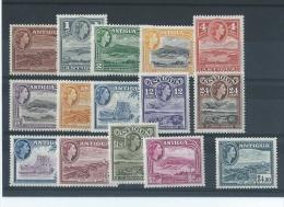 ANTIGUA 1954/1956 - YT N° 103A/117 NEUF AVEC CHARNIERE * (MLH) GOMME D'ORIGINE TTB - Antigua & Barbuda (...-1981)