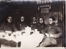 Photo 14-18 COMINES-WARNETON (Komen-Waasten) - Un Groupe D'officiers Allemands, Lt Linke, IR 7 (A100, Ww1, Wk 1) - Comines-Warneton - Komen-Waasten