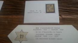 LOT 251363 TIMBRE DE FRANCE OBLITERE ETOILE DE PARIS N°19 - 1871-1875 Cérès
