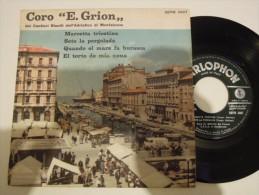 Coro Ermes Grion / Policardi Aldo - Coro E Grion Dei Riuniti Dell'adriatico Di Monfalcone - Parlophon 3007 Italy - Gospel & Religiöser Gesang