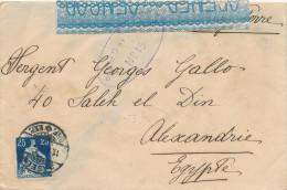 EGYPTE EGYPT WWI CENSORSHIP - Swiss Cover BASEL 1918 To ALEXANDRIA - Censor 15 Type 3  -- EB 019 - Égypte