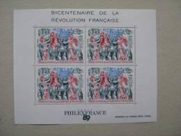 1989  TAAF BF 1 **  Bicentenaire De La Revolution - Blocs-feuillets