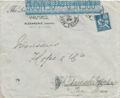 EGYPTE EGYPT WWI CENSORSHIP - Cover French PO ALEXANDRIA 1917 To AMSTERDAM - Censor 10 Type 1  -- EB 023 - Égypte