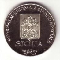 ITALIAN REGIONS:  SICILIA ( Sicily )- Silver Proof - Unclassified