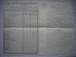 Lot De 2 Documents 19 ème école Royale Militaire Règlement Et Trousseau Du Ministère De La Guerre - Documents