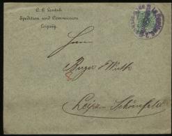 S2359 DR Briefumschlag: Gebraucht Nachträglich Entwertet Stempel Berlin C2 - Leipzig 1897, Bedarfserhaltung , Gefaltet - Deutschland