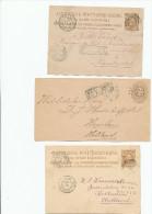 EB27 - NETHERLANDS INDIES 3 Maritime Cover/Cards 1884/1889 - NED INDIE VIA NAPELS - Indes Néerlandaises