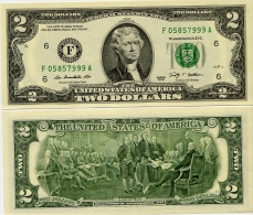 U.S.A.       2 Dollars       P-New       2009      UNC  [letter F: Atlanta]