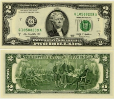 U.S.A.       2 Dollars       P-New       2009      UNC  [letter G: Chicago]