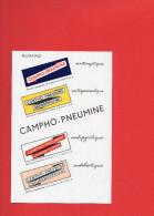 BUVARD - CAMPHO - PNEUMINE - Produits Pharmaceutiques