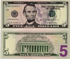 U.S.A.       5 Dollars       P-531       2009       UNC  [letter E: Richmond]