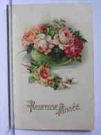 HEUREUSE ANNEE - ILLUSTRATION FLEURS - ROSES - Nouvel An
