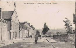 MONTLUCON 0127 LES NICAUDS ROUTE DE LIMOGES (¨PETITE ANIMATION) 1924 - Moulins