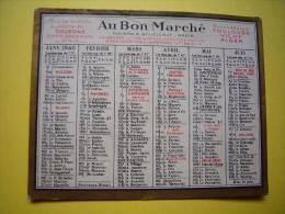 Calendrier Au bon march� 1940
