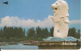 CARTE-MAGNETIQUE-1990 -SINGAPOUR-MERLION-BE - Singapour